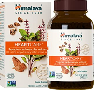 Himalaya HeartCare, Cholesterol and Blood Pressure Supplements for Cardiovascular Wellness and Heart Health, 720mg, 240 Ca...