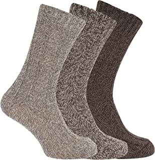 Mens Wool Blend Boot Socks (Pack Of 3)