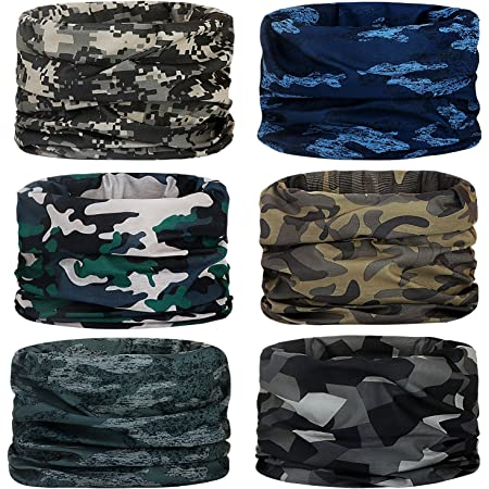 MICTUNING 3 PCS American Flag Face Mask Scarf Cover Bandanas Neck Gaiter Shields Headwear for Motorcycling Cycling Hiking