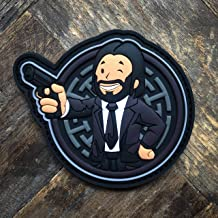 John Wick Vault Boy Fallout Inspired Baba Yaga PVC Morale Patch – Hook Backed by NEO Tactical