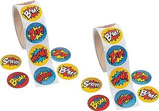 Fun Express Superhero Sticker Roll - 200 Pieces