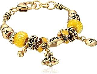 Gemini Zodiac Sign Gold Tone Charm Bracelet