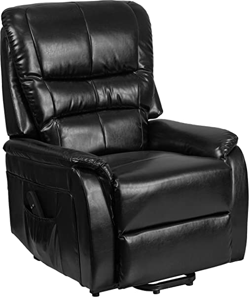 Flash Furniture HERCULES Series Black Leather Remote Powered Lift Recliner