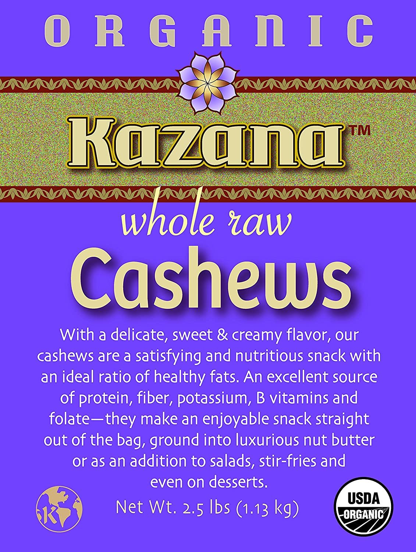 Kazana Organic Raw Cashews 5 Sacramento Today's only Mall 2.5 lbs