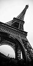 لوحه فنيه شكل برج ايفل مطبوعه علي قماش كانفاس للديكور مقاس 56x116 سم