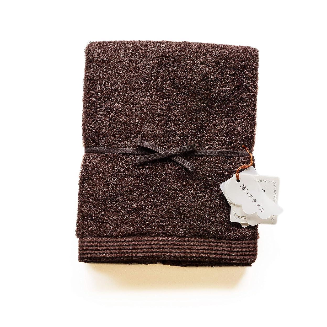 始める気づくなるポーククレシェンド フェイスタオル ブラウン 34×90cm 潤いのタオル カラーベーシック