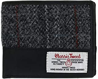 Men's Berneray Harris Tweed and Leather Bifold Wallet
