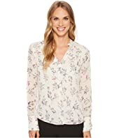 Ivanka Trump - Mini Floral Button Woven Blouse
