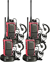 Arcshell Rechargeable Long Range Two-Way Radios with Earpiece 4 Pack Walkie Talkies UHF 400-470Mhz Li-ion Battery and Char...