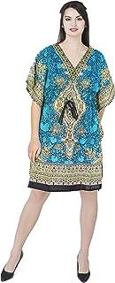 SKAVIJ Vestido de Kaftan para Mujer Túnica de Playa Vestido de túnica Cálido camisón caftán