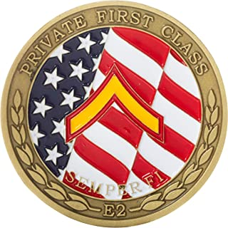 United States Marine Corps Private First Class Junior Enlisted Rank Challenge Coin
