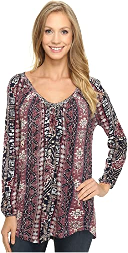 Lucky Brand - Tribal Printed Top
