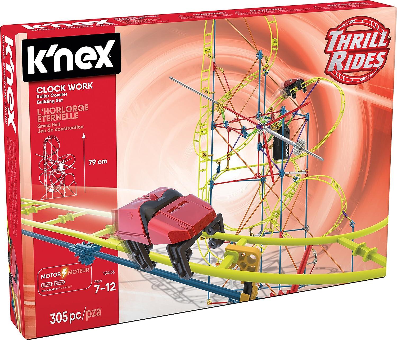 K Nex 33950 Thrill Rides Clock Work Roller Coaster 305 Pieces 7 Bau Und Konstruktionsspielzeug Amazon De Spielzeug