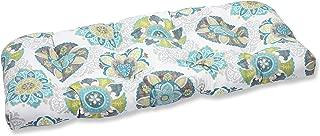 Pillow Perfect Outdoor Allodala Wicker Loveseat Cushion, Oasis