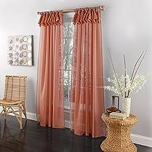 """لوحة نافذة علوية من Lorraine Home Fashions Breeze Tab 54"""" x 63"""" مرجاني"""