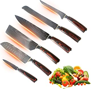 Jikko® Nouvelle Gamme de Couteaux de Chef Japonais en Acier Carbone Renforcé VG-10 - Fabrication Japonaise - Couteaux de C...
