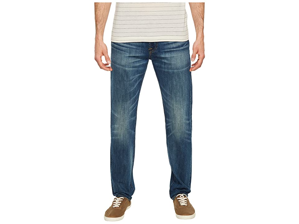 Image of 7 For All Mankind Adrien Easy Slim Worn From Raw in Legend (Legend) Men's Jeans