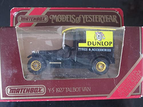 deportes calientes 1927 Talbot Van (negro (negro (negro 12spokes) Dunlop Tyre Logo Matchbox Model of Yesteryear Y-5 Issued 1978 by Matchbox  precio mas barato