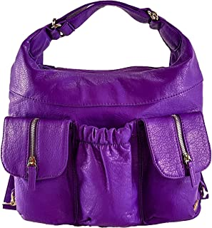 Butterfly Convertible Purse (Backpack and Shoulder Bag) in Soft Vegan Leather