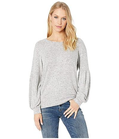 BB Dakota Are You Shirred Sweatshirt (Heather Grey) Women