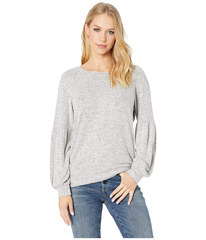BB Dakota  Are You Shirred Sweatshirt (Heather Grey) Womens Sweatshirt