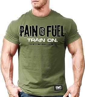 Men's Bodybuilding Workout (PainIsFuel) Gym Training T-Shirt
