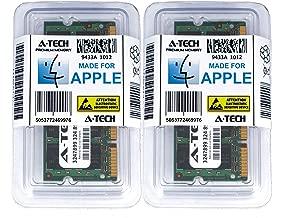 A-Tech for Apple 4GB Kit 2X 2GB PC2-5300 MacBook Pro MacBook Early 2009 Early 2008 MB061LL/B A1181 MB062LL/B MB063LL/B MB402LL/A MB403LL/A MB404LL/A MB881LL/A MA895LL A1226 MA896LL Memory RAM
