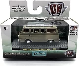 M2 Machines 1965 Ford Econoline Camper Van (Navajo Beige with Tan & Wood Camper Interior) Auto-Trucks Series Release 38-2016 Castline Premium Edition 1:64 Scale Die-Cast Vehicle (R38 16-23)