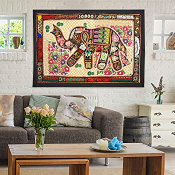 Buy Hare Krishna Bedroom Dining Room Kitchen Wall Decor Tapestry Embroidered Diwali Christmas Gifts Item Wall Hanging Black 24 X 36 Inches Online At Low Prices In India Amazon In