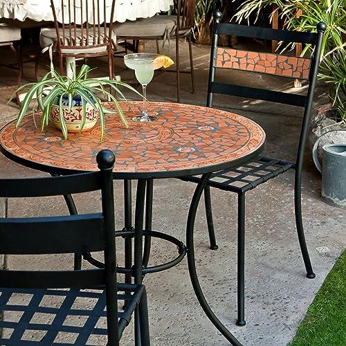 Patio Furniture Iron Black.Mosaic Patio Furniture Amazon Com