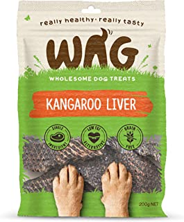 WAG Pure Meat Kangaroo Liver Dog Treat, 200g