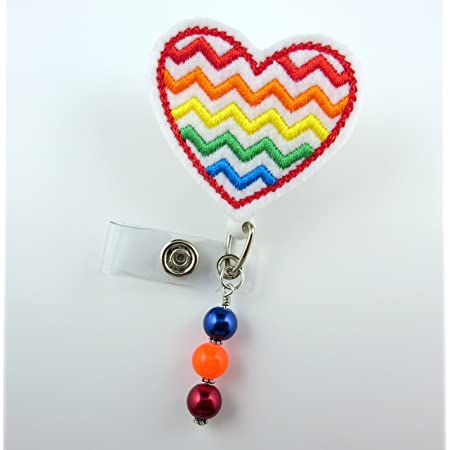 Felt Badge Reel Rainbow Badge Reel ID Holder Nurse Badge Reel Badge Holder ID Badge Holder Teacher Badge Reel