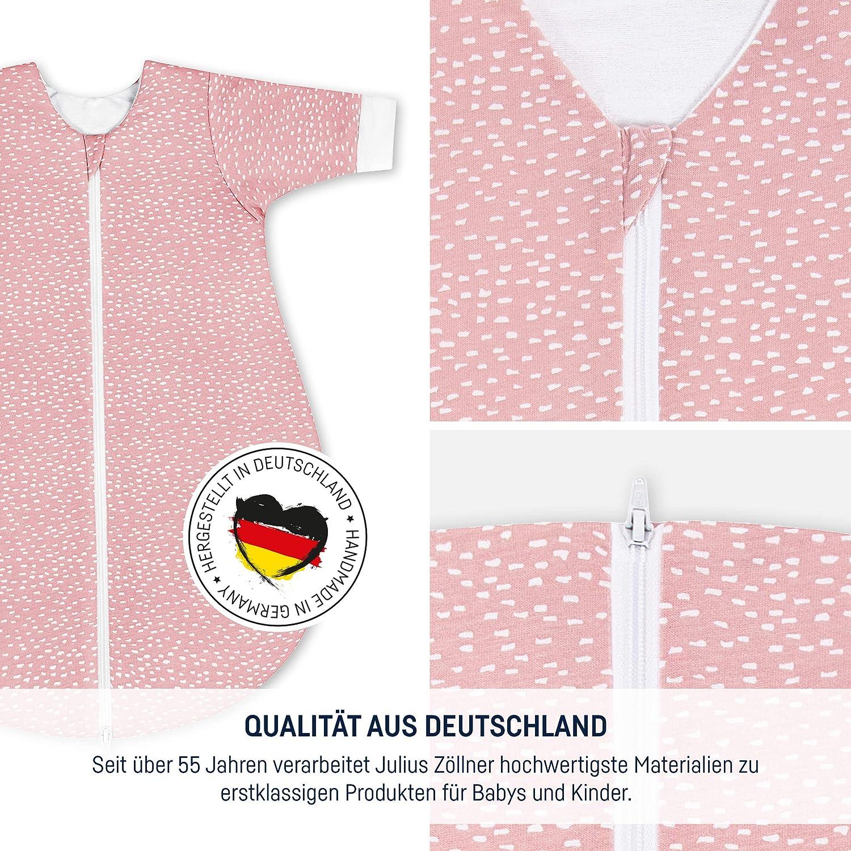 Julius Zöllner Gigoteuse d'hiver pour bébé en 100 % Jersey de Coton, Standard 100 par Oeko-TEX, fabriqué en Allemagne Blush Carré Tiny