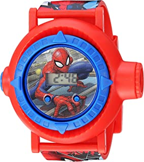 Spider Man Boys' Quartz Watch with Plastic Strap, red, 23.75 (Model: SPD4430)