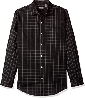 Men's Traveler Stretch Long Sleeve Button Down Black/Khaki/Grey Shirt
