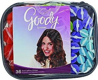 Goody GoCurl Foam Hair Rollers, Assorted Colors, 36 Count