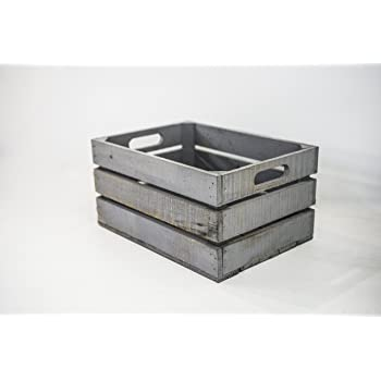C1 Caja de Madera Vintage Color Gris Oscuro -13 x 34 x 24 cm: Amazon.es: Hogar