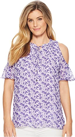 Carnation Cold Shoulder Top
