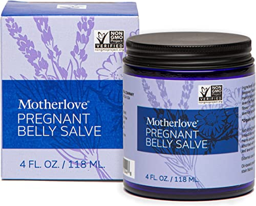 Motherlove Pregnant Belly Salve (4oz) Help Prevent Stretch Marks During Pregnancy & Soothe the Itch of Growing Skin—M...