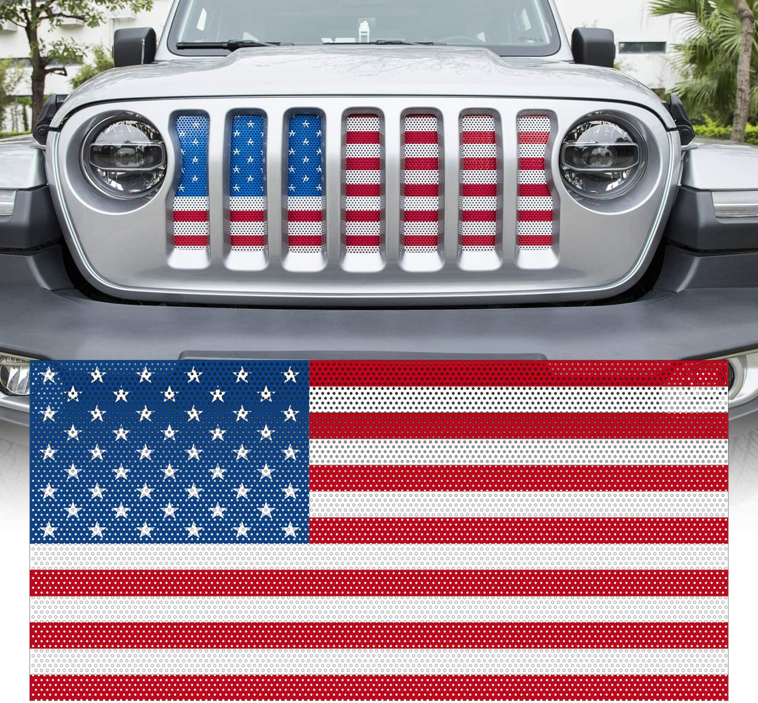 Yoursme Front Grille Grid Grill Insert Screen Challenge the lowest price of cheap Japan ☆ American Flag Desi