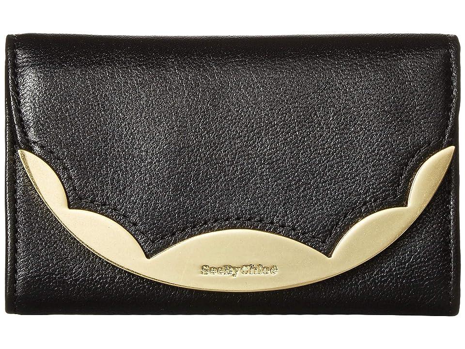 762dd2cff3 See by Chloe Brady Medium Wallet (Black) Wallet Handbags