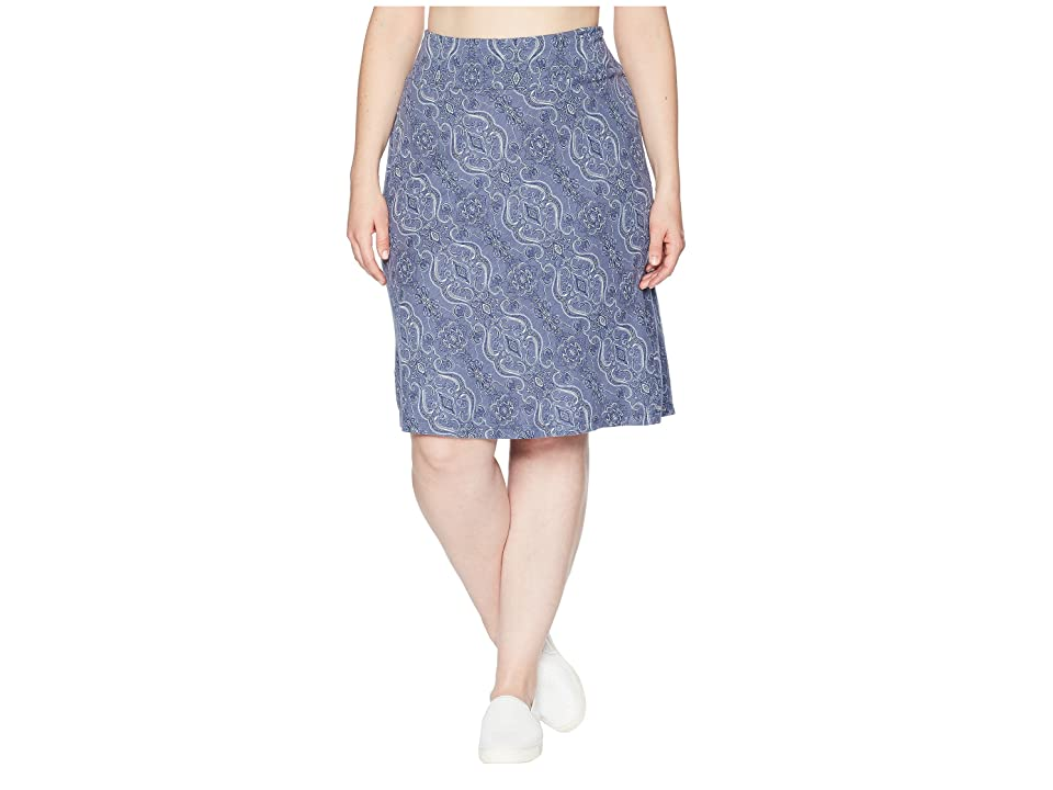 Aventura Clothing Plus Size Kenzie Skirt (Blue Indigo) Women