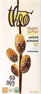 Theo Chocolate Organic Milk Chocolate with Salted Almonds Bar 3 oz.