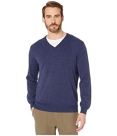 J.Crew Everyday Cashmere V-Neck Sweater (Heather Shadow) Men