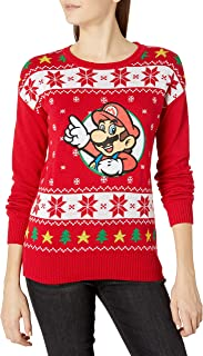 Women's Ugly Christmas Sweater, Red, Medium