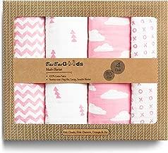 BaeBae Goods Muslin Swaddle Blankets   Pink Clouds