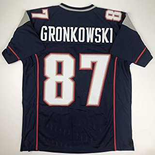 Unsigned Rob Gronkowski New England Blue Custom Stitched Football Jersey Size XL New No Brands/Logos