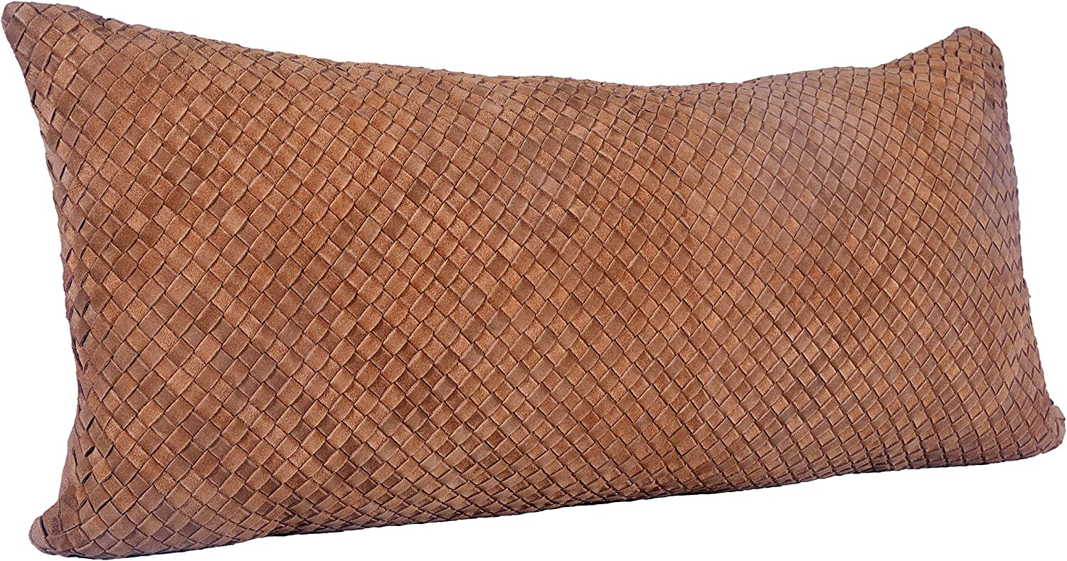 HiEnd Accents Suede Basket Weave 30x14 Some reservation Pillow Long Lumbar Philadelphia Mall