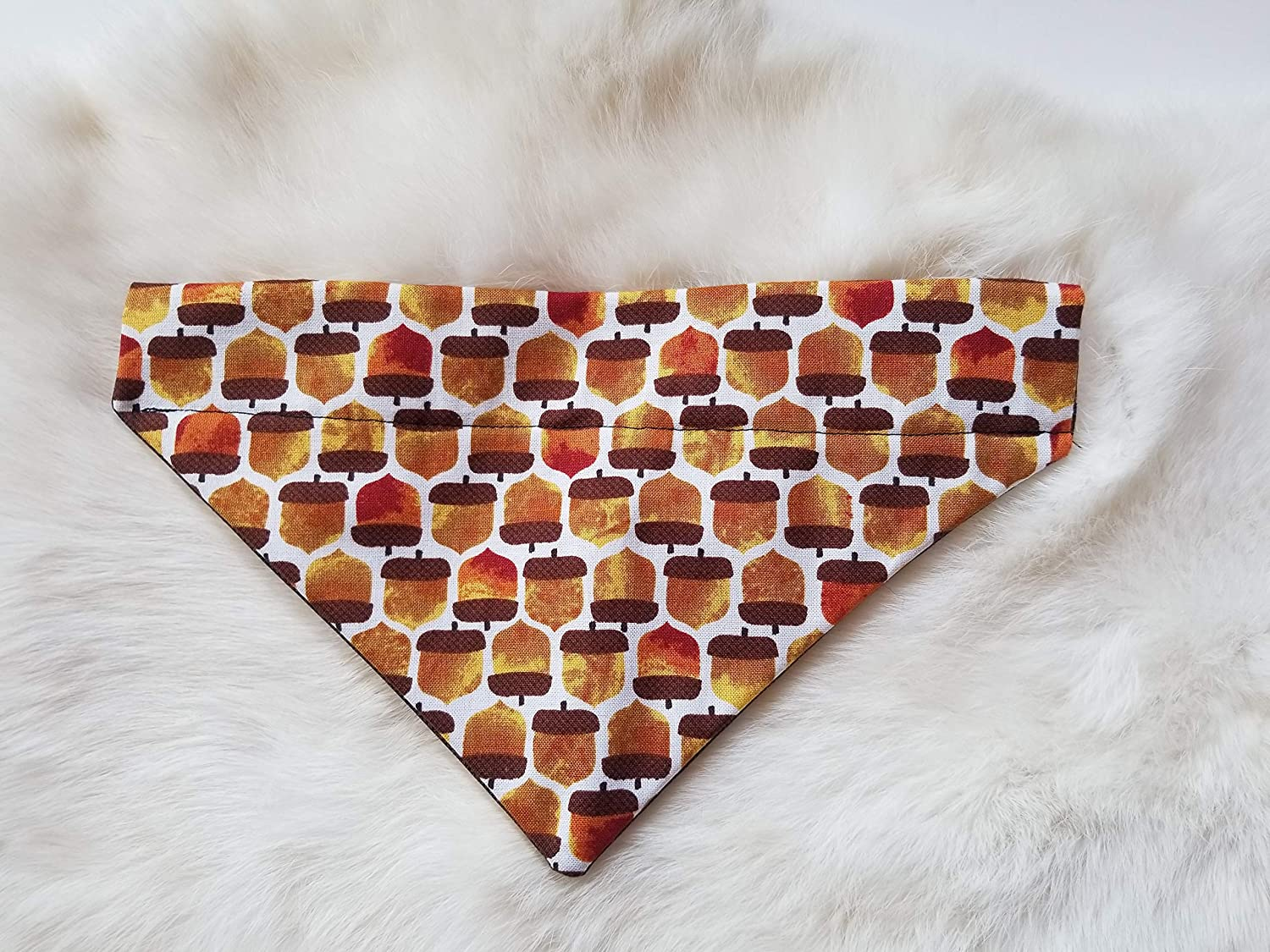 Fall Acorns Over the Collar Dog Slips Ex onto Bandana low-pricing That Their Max 74% OFF