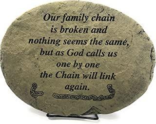 Kay Berry Our family Chain is broken and Nothing Seems the Same But as God Calls us One by One the Chain will Link Again; Comfort Stone Sympathy Gift: 10